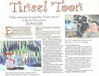 Tinsel 'Toon - Dallas animation firm finishes holiday special in the St. Nick of time... (page 1)